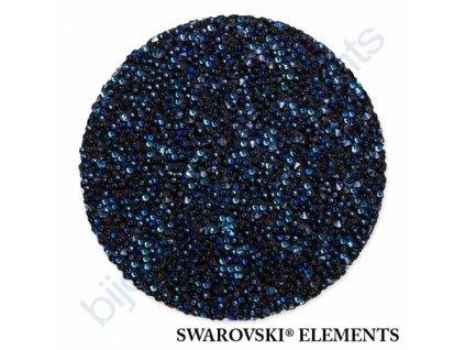 SWAROVSKI ELEMENTS - Crystal fabric, černý, crystal moonlight, 30mm