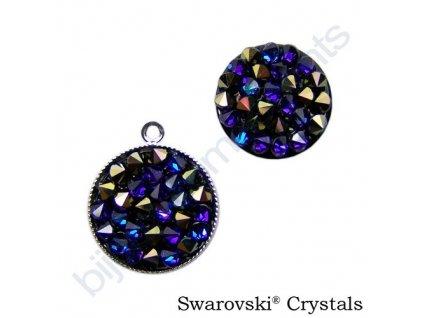 SWAROVSKI CRYSTALS - Crystal rocks, černý, crystal heliotrope, 15mm