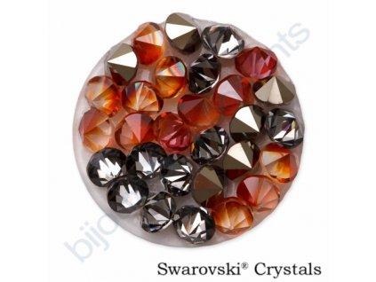 SWAROVSKI ELEMENTS - Crystal rocks, crystal red magma, 15mm