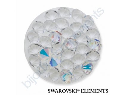 SWAROVSKI ELEMENTS - Crystal rocks, transparentní, crystal AB, 15mm