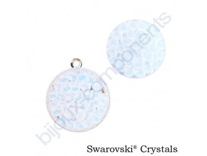 SWAROVSKI CRYSTALS - Crystal rocks, transparentní, white opal, 15mm