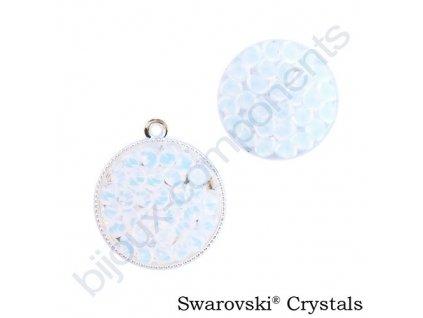 SWAROVSKI CRYSTALS - Crystal rocks, transparentní, white opal, 15mm