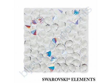 SWAROVSKI ELEMENTS - Crystal rocks, transparentní, crystal AB, 20x20mm