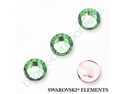 SWAROVSKI ELEMENTS šatonová růže - nažehlovací (s vrstvou lepidla), peridot, SS16