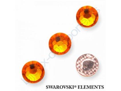 SWAROVSKI ELEMENTS šatonová růže - nažehlovací (s vrstvou lepidla), sun, SS16