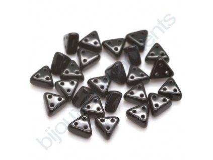 Skleněné korálky eMMA, černé, 3x6mm, 5g