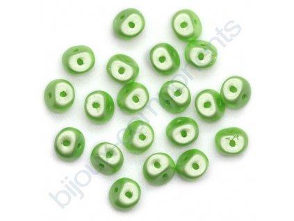 Skleněné korálky es-O, světle zelené, 5mm, 5g