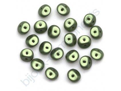 Skleněné korálky es-O, olivové, 5mm, 5g
