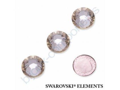 SWAROVSKI ELEMENTS šatonová růže - nažehlovací (s vrstvou lepidla), light silk, SS20