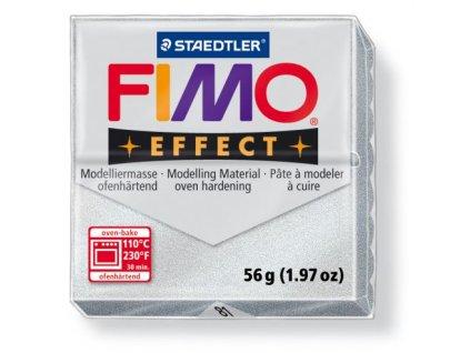 Fimo Efect cca 56g, jemně stříbrná