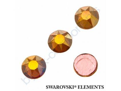 SWAROVSKI ELEMENTS šatonová růže - nažehlovací (s vrstvou lepidla), crystal metallic sunhine, SS20