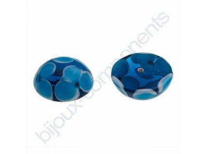 Kabošon kulatý vinutý, cca 16mm, modrá