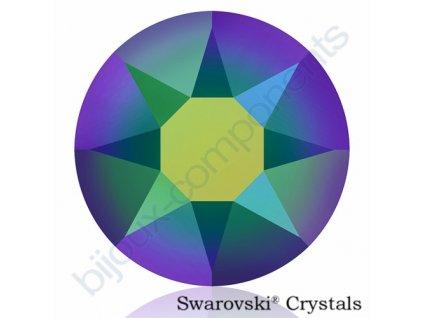 SWAROVSKI CRYSTALS šatonová růže - nažehlovací (s vrstvou lepidla), crystal scarabeus green HF, SS20
