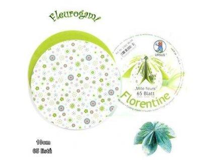 Fleurogami - zelený set s millefiorovým vzorem