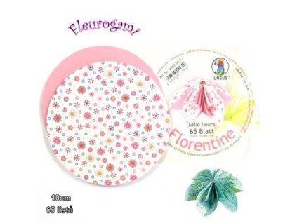 Fleurogami - růžový set s millefiorovým vzorem