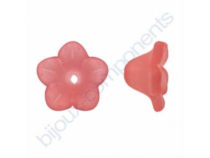 Akrylové kytičky - světle růžové