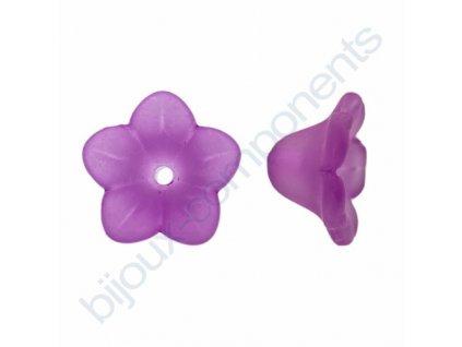 Akrylové kytičky - fialové