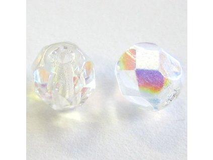 Skleněné ohňové korálky - krystal AB, cca 3mm