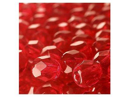 Skleněné ohňové korálky - červené, cca 4mm
