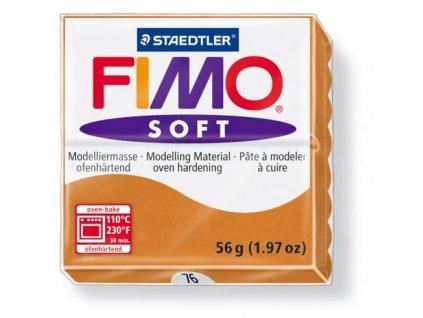 Fimo Soft cca 56g, karamelová