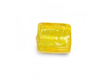 Skleněné korálky žluté