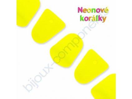 Neonové korálky s UV efektem, bonbóny - gumdrops, žluté