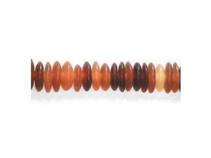Perle z rohoviny - hladké rondelky