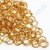 Spojovací kroužek cca 5x0,8mm, zlatý