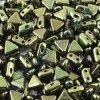 Kheops par Puca, Metallic Green, 6x6x6mm, 12ks