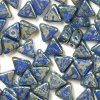 Kheops par Puca, Opaque Sapphire Picasso, 6x6x6mm, 12ks
