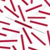 PRECIOSA Skleněné tyčinky, šestihran - červené
