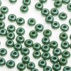 PRECIOSA rokajl - zelené/hematit, 7/0 cca 3,5mm