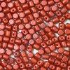 Minos par Puca, Red Metallic Mat, 3x2,5mm, 36ks