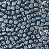 Minos par Puca, Metallic Mat Dark Blue, 3x2,5mm, 36ks