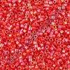 Miyuki Delica, Opaque Red AB, vel.1,6 mm, průtah 0,8 mm