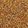 Miyuki Delica, Galvanized Yellow Gold, vel.1,6 mm, průtah 0,8 mm