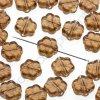 Skleněné mačkané korálky - kouřový topaz, cca 8,1 x 3,7mm