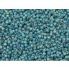 TOHO rokajl, Trans Rainbow Frosted Teal, vel.2,2 mm, průtah 0,8 mm