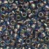 TOHO rokajl, Gold Lined Rainbow Lt.Sapphire, vel.3,1 mm, průtah 1,3 mm