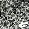 Skleněné mačkané korálky - dvoudírkové DIAMONDUO™ 5x8mm