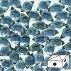 Skleněné mačkané korálky - dvoudírkové DIAMONDUO™ 5x8mm - Prismatic Stormy Seas