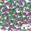 Skleněné mačkané korálky - dvoudírkové DIAMONDUO™ 5x8mm - Prismatic Watermelon Punch