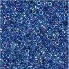 TOHO rokajl, Inside-Color Luster Crystal Caribean Blue Lined, vel.2,2 mm, průtah 0,8 mm