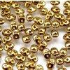 Matubo Superduo, yellow gold, 2,5x5 mm, průtah 0,8 mm, 5 g
