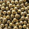 Skleněné korálky - ramš, zlato-stříbrné