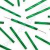 PRECIOSA Skleněné tyčinky, kroucený průtah - zelené, cca 15mm