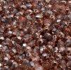 Skleněné ohňové korálky - měděný půlpokov lesklý, 4 mm