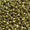 Skleněné ohňové korálky - zlaté lesklé, 4 mm