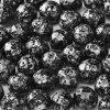 Skleněné ohňové korálky -černé/pokov 45702, vel. cca 8 mm