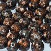 Skleněné ohňové korálky -černé/pokov 45703, vel. cca 8 mm